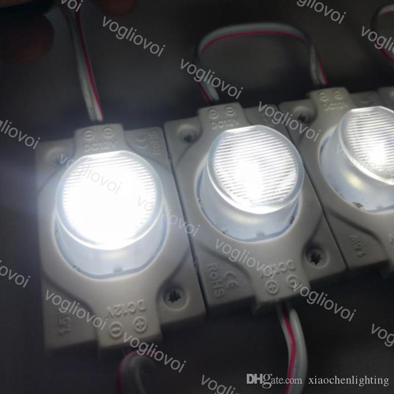 Módulo LED 2W SMD3030 Luz emissor de janela com lente 180 graus injeção para holiday holiday advertisement DHL DHL