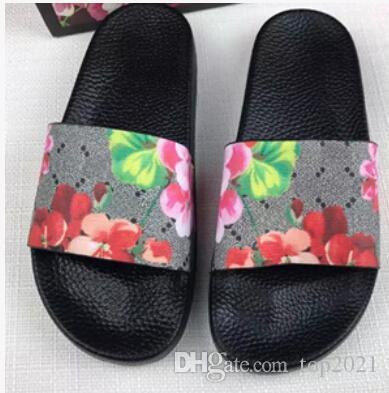 Pantofole da uomo Summer Beach Nuovo arrivo moda Ins di marca Fondo morbido piatto Fondo spesso elastico sexy Stampato fiore tigre infradito
