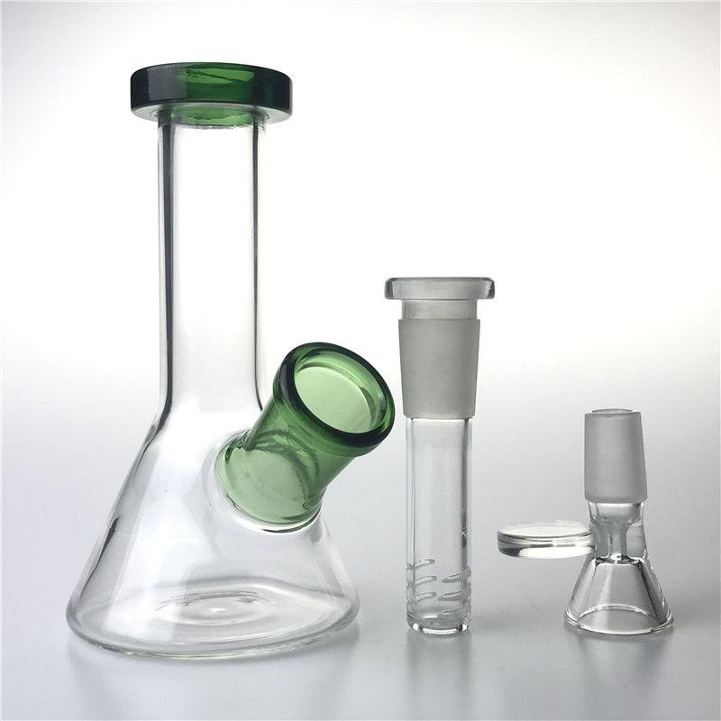 5 pollici 14mm Water Water Water Bongs con il narghilè del Downstem Bowl Thick Recycler Beaker Infestato Bong Mini impianti per fumare Tubi