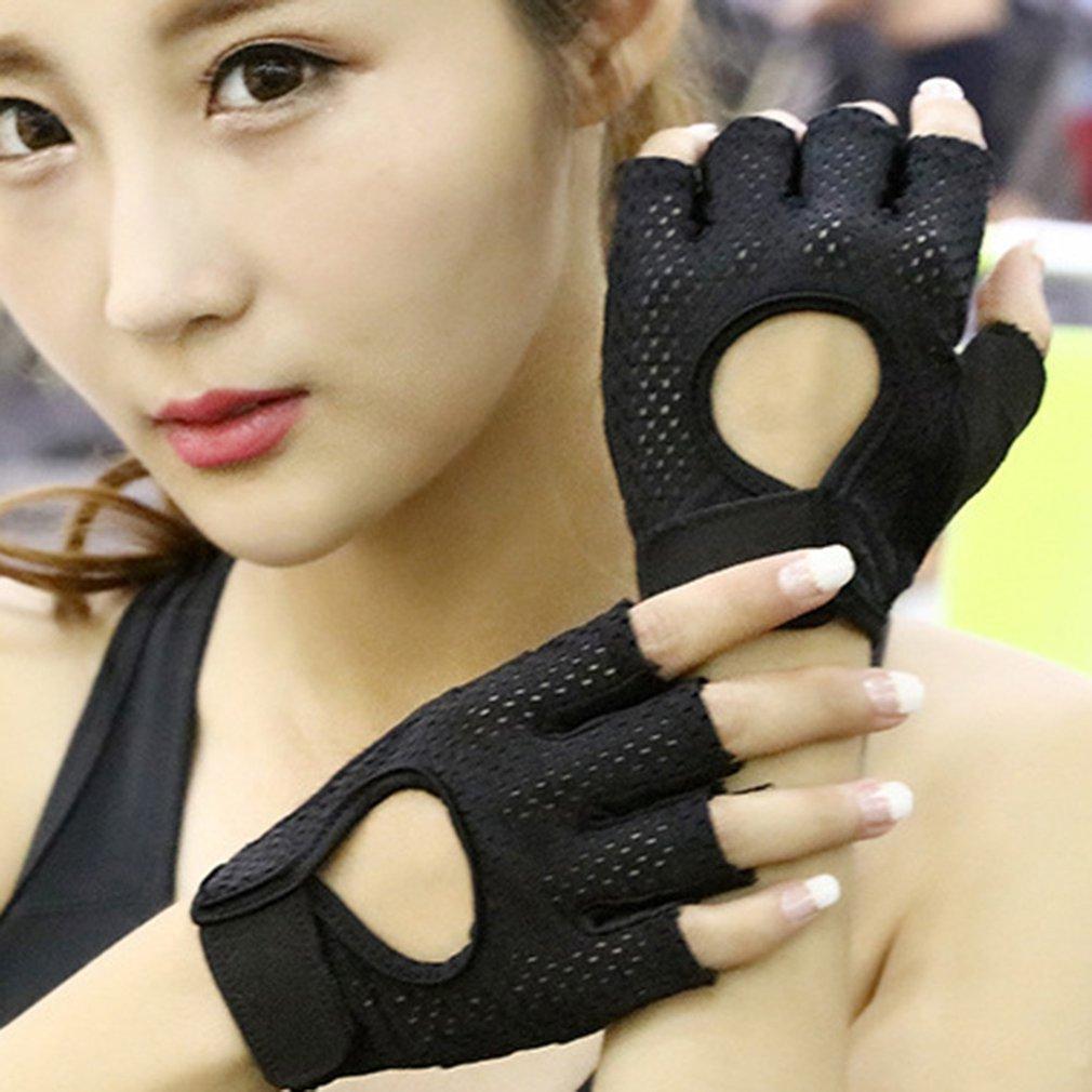 اللياقة البدنية قفازات الرجال والنساء معدات التدريب نصف إصبع ممارسة اليوغا المعصم غرفة الدراجة عدم الانزلاق معدات رياضية