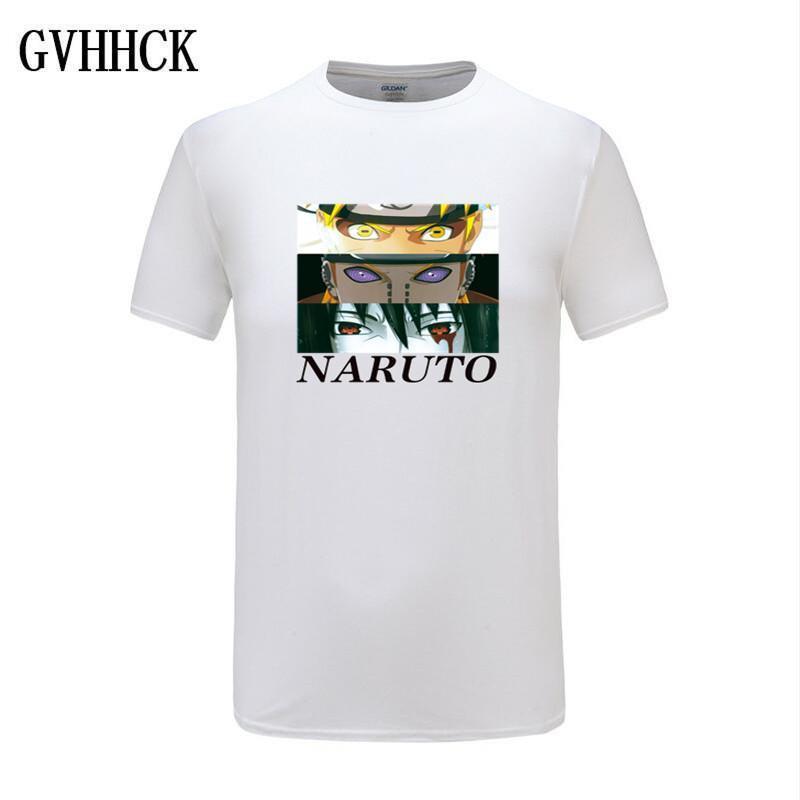 Naruto Akatsuki Pein Beyaz Tişörtlü Erkekler Pamuk Homme Anime Gömlek Marka Casual Streetwear Harajuku Moda O-Boyun Erkek Tişörtü
