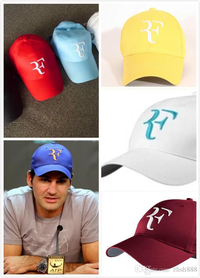 Boné de tênis clássico Atacado-Roger federer Chapéus de tênis clássicos wimbledon RF boné de beisebol
