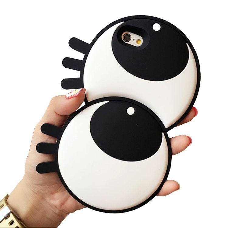 Fundas Para Smartphone Moda Divertida 3d De Dibujos Animados De Goma De Silicona Suave Ojos Grandes Cubierta Linda De La Caja Del Teléfono Para