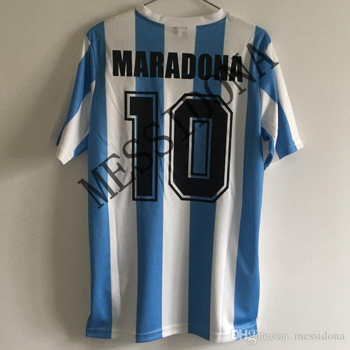 Maradona T Shirt Argentina Argentina Home Retro Vintage 1986