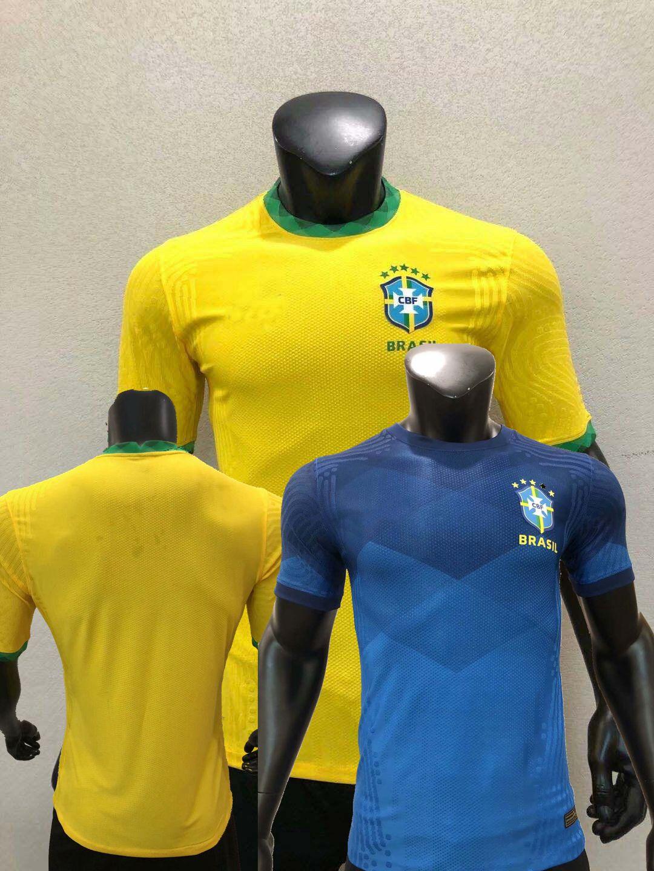 2020 2021 Brésil Joueur version Maillots de football MARCELO P. COUTINHO MIRANDA G. JESUS maison loin 20 21 joueur de football chemise