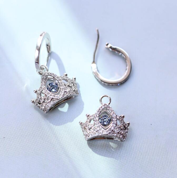 2019-2020 novas designer de moda jóias brincos de tendência brincos de luxo de alta qualidade do presente do feriado lindo coroa silverf67b #
