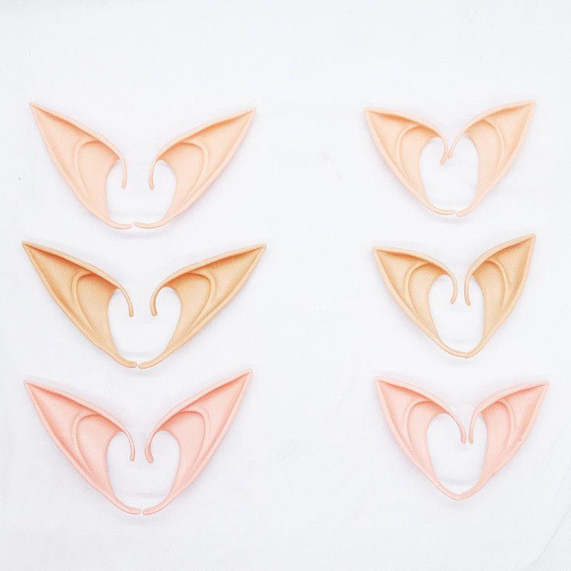 Pack opp Oreille fluorescent Halloween Fée Cosplay Accessoires Vampire Party Masque pour le latex mou Faux oreilles 10cm et 12cm