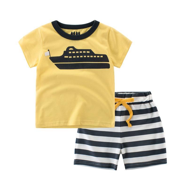 KINE PANDA 1 3 5 7 9 anni Old Boys estate dei vestiti vestiti del bambino per i bambini Bambini Boy T-shirt Shorts Outfits