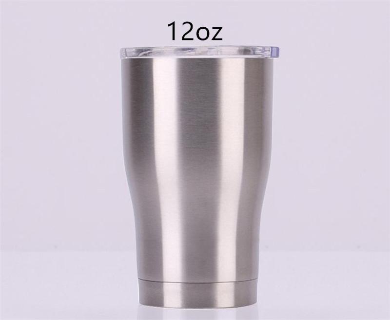 커피 뚜껑 12온스 곡선 텀블러 현대 커브 컵 곡선 물 잔을 두 번 벽으로 둘러싸인 스테인레스 스틸 병
