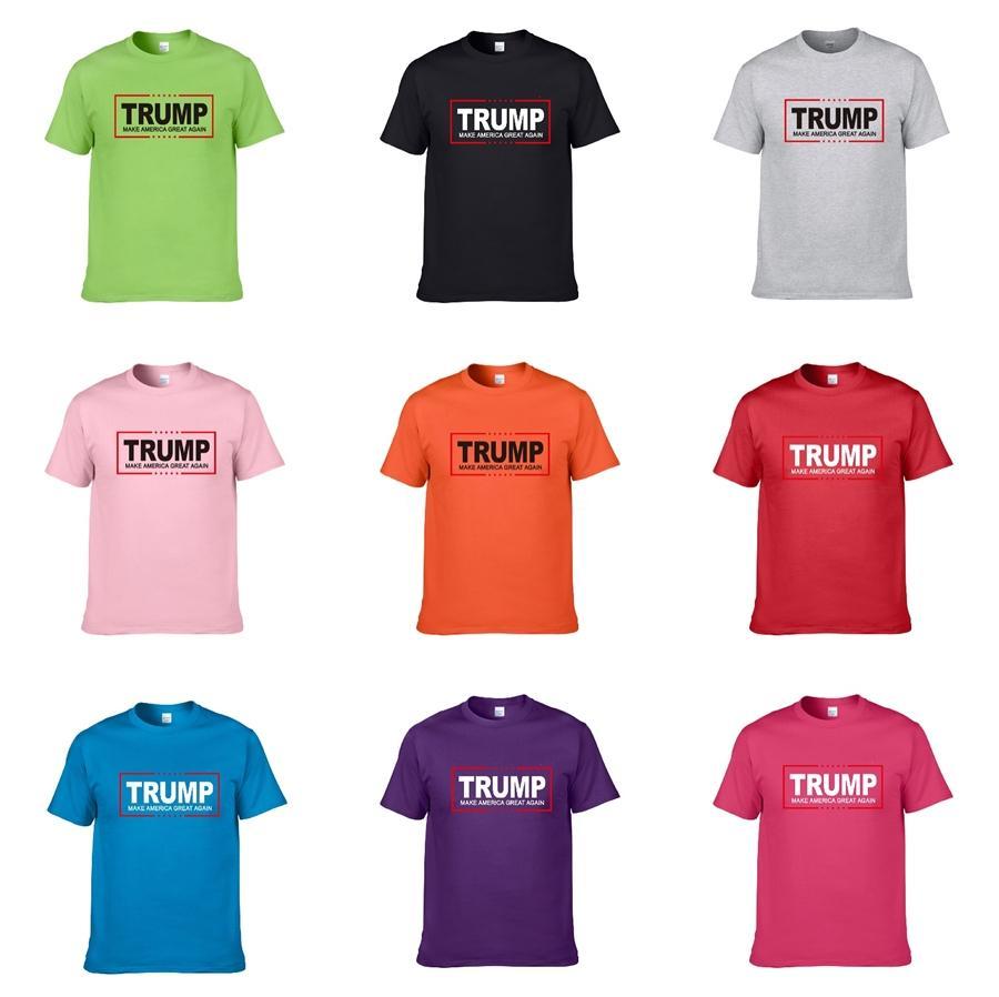 2020 Lüks Erkekler'S Trump T Gömlek Marka Tasarımcılar Moda Harajuku Casual Tişörtlü Erkekler Tees Medusa Komik Trump T Gömlek # 429
