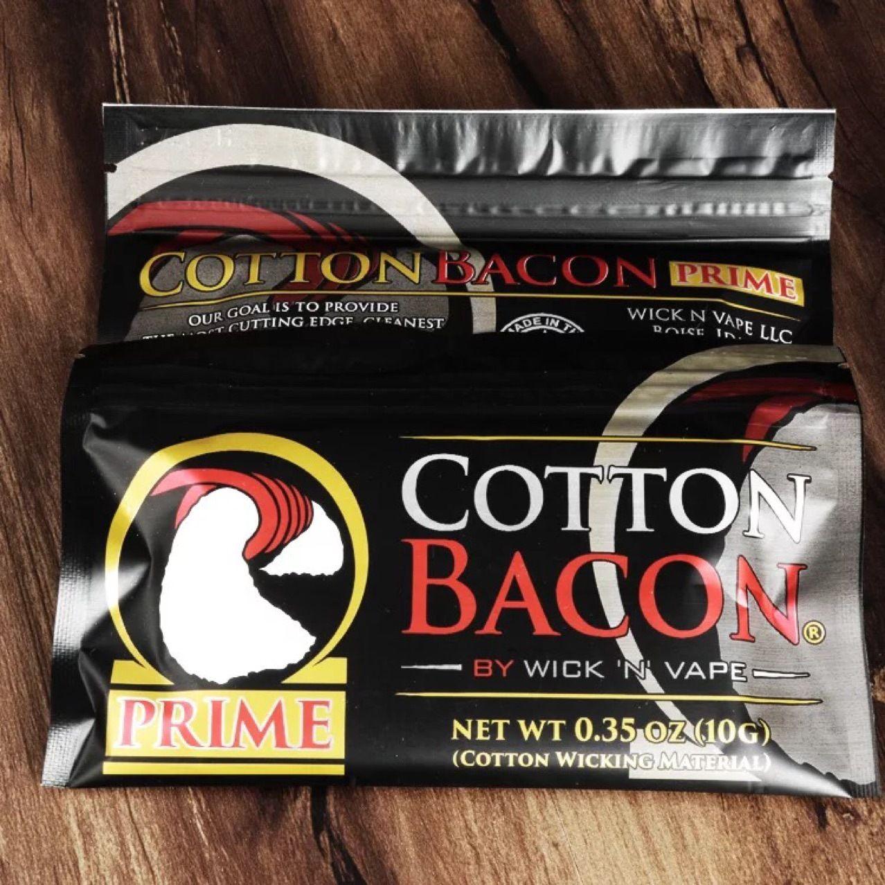 100% coton biologique la version la plus récente de COTTON BACON 2.0 Prime Gold pour le bricolage RDA RBA atomiseurs Bobine de chauffage à fil Ecig