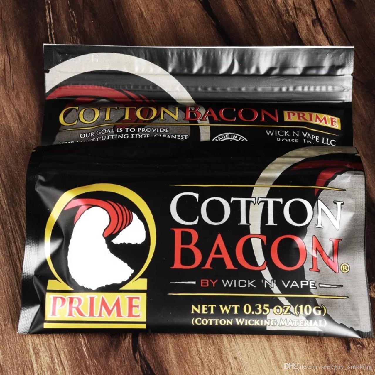 100% coton biologique Le plus récent coton Bacon 2.0 Premier Gold Version pour DIY RDA RBA Atomiseurs Chauffage Coip Ecig Vaporisants