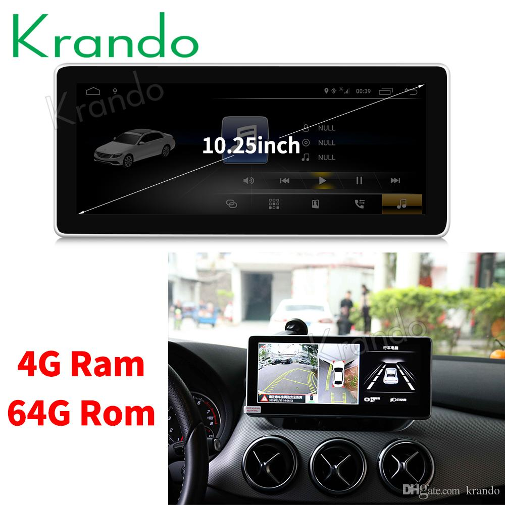Krando Android 8.1 10.25' car dvd radio dvd navigation for mercedes for benz B CLASS W246 2016-2018 multimedia player with bluetooth