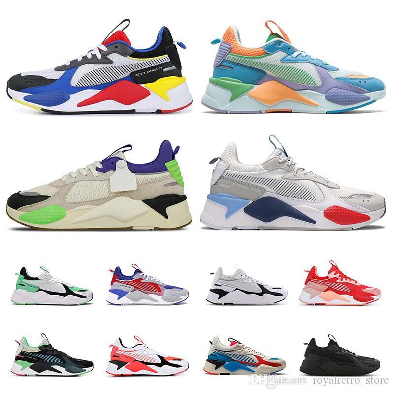 puma rsrsx rs-x zapatos casuales para hombres mujeres diseñador Juguetes Reinvención triple melocotón negro Trofeo entrenadores moda zapatillas de deporte de lujo