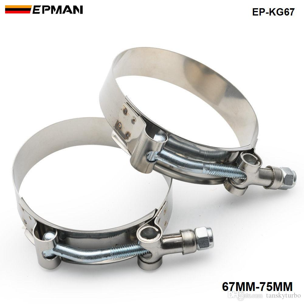 "Tansky - 1 paar / eenheid 25 ""inch (67 mm-75mm) Siliconen Turbo Slang Coupler T Bolt Super Clamp Kit (EP-KG67)"