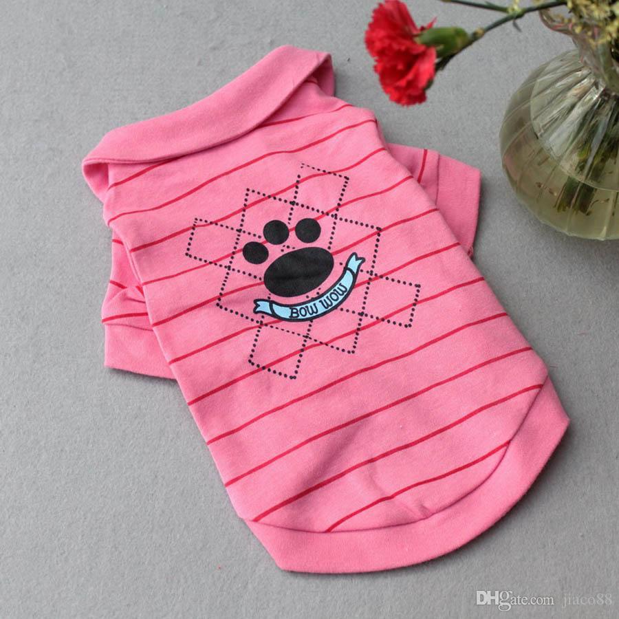 Chien Chien Pet Dog Apparel Polo Refroidir Puppy T-shirts Vêtements Vêtements pour animaux domestiques d'approvisionnement Stripe T-shirt d'été Sport Apparel En stock rapide Dispatch