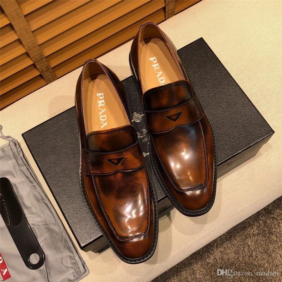 19MM 2019 Luxury MANs платье большого размера обуви верхней кожи Оксфорд обувь для MAN Бизнес MAN SHOES БРЕНДЫ MAN Свадебная обувь YETC0