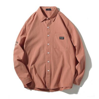 Mens New arrivée Chemises solides en vrac coton Chemise manches longues Homme Modèle Chemises Taille White Plus