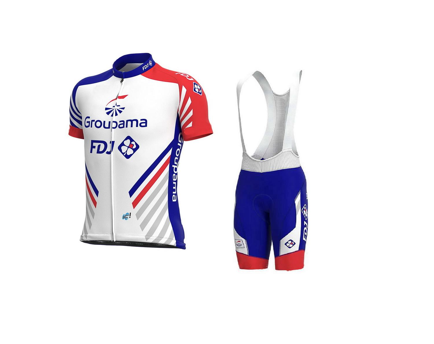 2020 GROUPAMA FDJ PRO TEAM BLUE SHORT SLEEVE CYCLING JERSEY SUMMER CYCLING WEAR ROPA CICLISMO+ BIB SHORTS 3D GEL PAD SET SIZE:XS-4XL