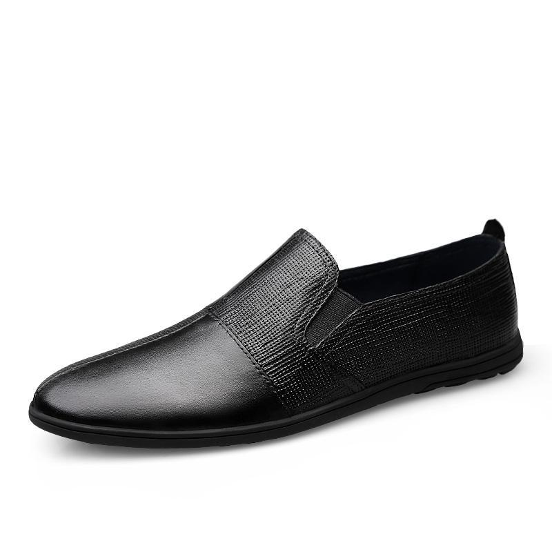 Moda Casual Mocassins Homens Genuíno Couro Homens Sapatos Casuais Lazer Flats Masculino Mocassins Mocassins Incêndios Masculinos de Condução HC-623