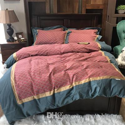 New Luxury High-grade American Pure Cotton Bed On Four Sets Long Staple Cotton Bed Sheet With Thick And Worsted Bed Sheet 4-piece Set