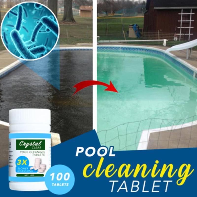 100pcs التي / زجاجة بركة تنظيف أقراص المياه متعدد الوظائف منفعل بخاخ منظف أدوات تنظيف حمام سباحة