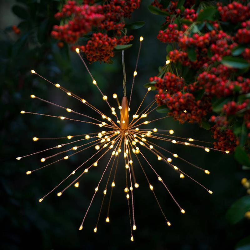 Fireworks Solar String Lights 200 LED Solar Lamp 8 Mode LED Lights Remote Control Decoration XMAS Light for Party Bar Christmas GGA2519
