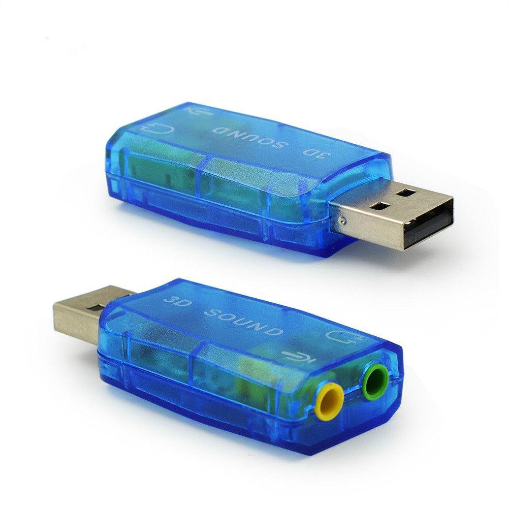 가상 5.1 사운드 카드 3D Enternal USB 오디오 컨트롤러 USB 2.0 3.5mm 잭 이어폰 헤드셋 PC 노트북 컴퓨터 노트북