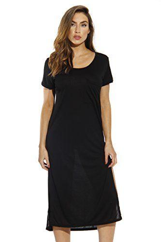 Vestidos casuais apenas amor modal t-shirt vestido / vestidos para mulheres