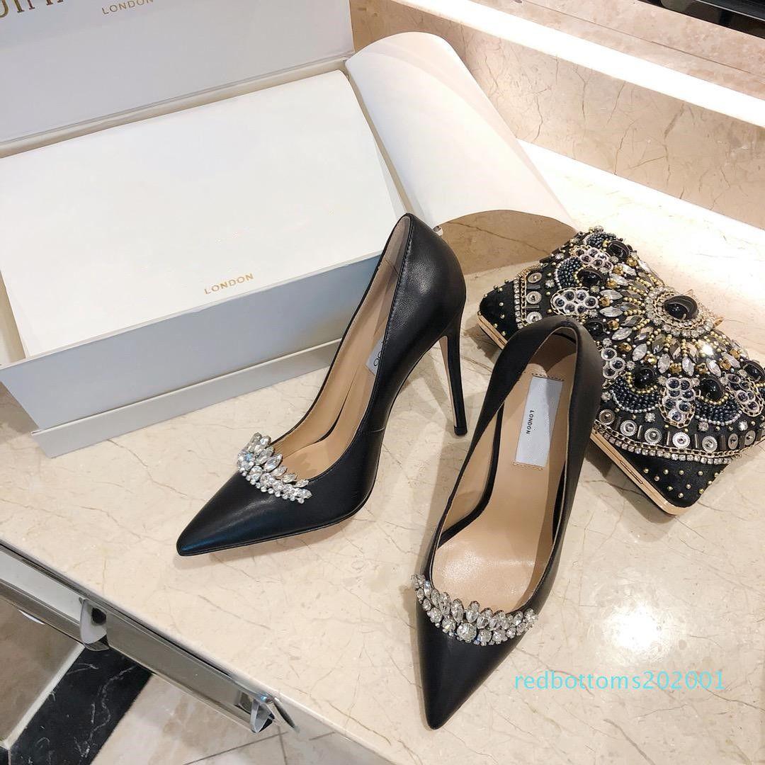 sapatos 2019 das mulheres na Primavera e Outono com estilo novo salto alto fino calcanhar sapatos bicudos finais calcanhar tamanho 10,5 centímetros 35-40 r01