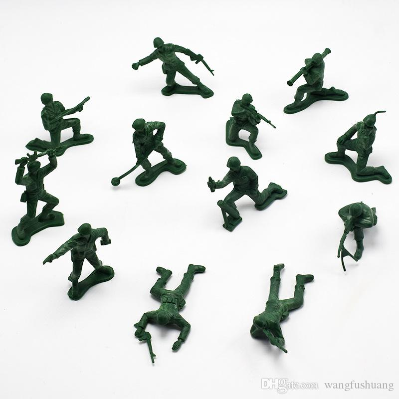 12pcs/set 5cm Plastic Soldier Model World War II Soldier military Toys Best birthday Christmas gifts for Boys Toys for Children