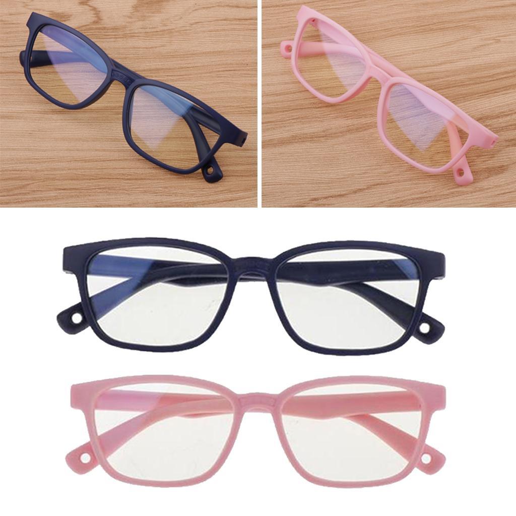 2pcs Kids's Stylish Anti Blue Light Soft Silicone Frame Eyewear