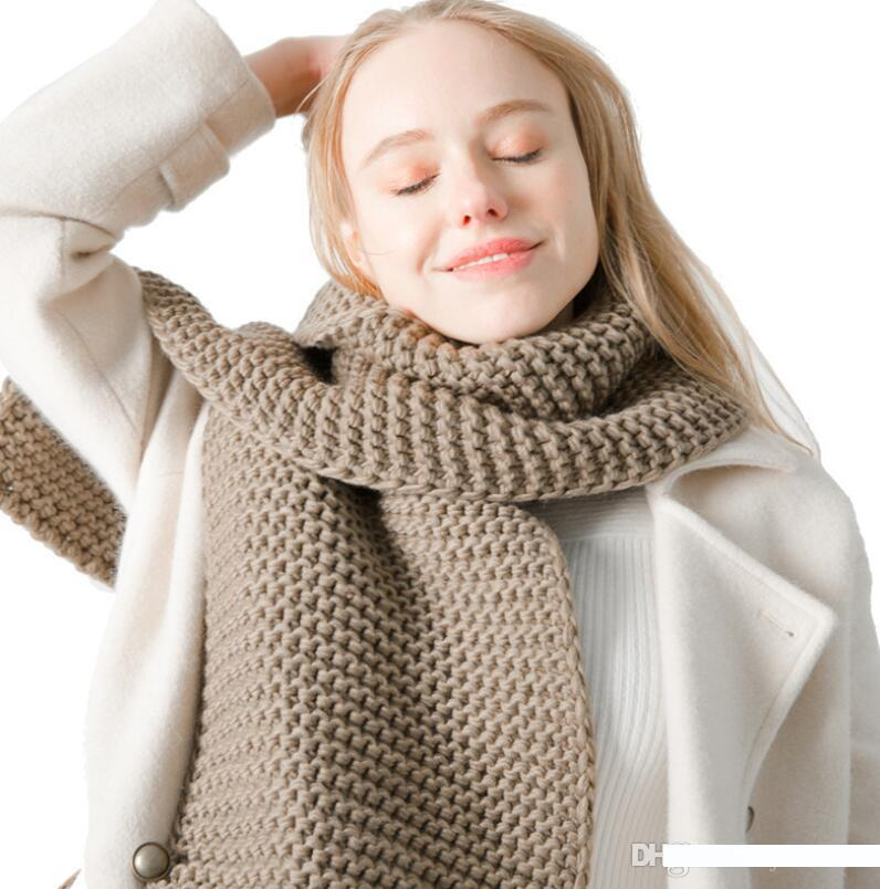Mens Warm Scarf Fashion Solid Style Formal Business Shawl Thicken Muffler Neckerchief Man