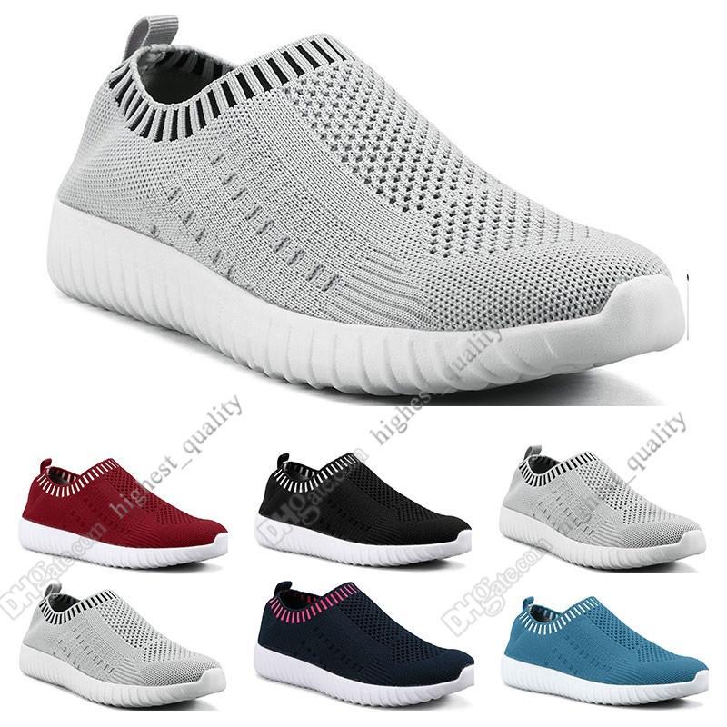sapatos a melhor venda mulheres de grande porte voando as sapatilhas das mulheres um pé respirável sapatos leves esportivos casuais tênis Six
