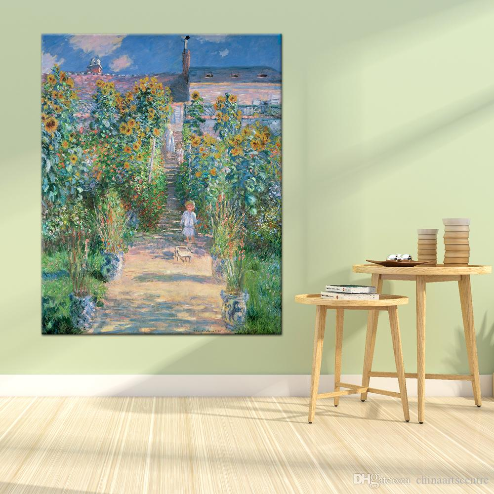 Famous Claude Monet Garden High Quality Handpainted & HD Print Abstract Landscape Art Oil Painting On Canvas Wall Art Home Office Deco l17