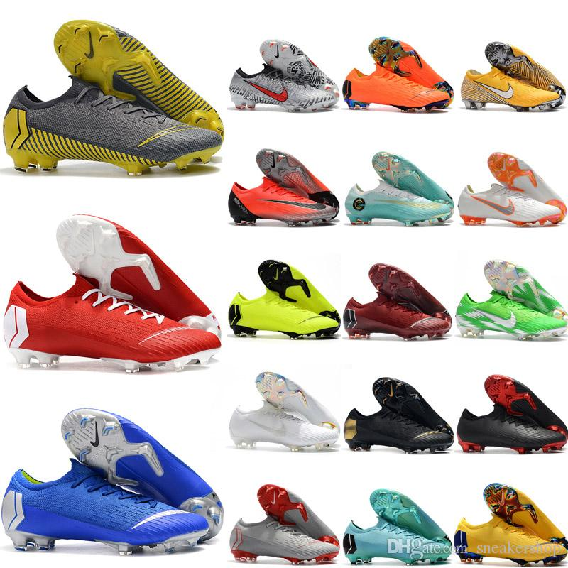 2019 мужская футбольная обувь Mercurial VaporX XII Elite FG футбольные бутсы Superfly VI 360 Elite FG футбольные бутсы Tacos de futbol