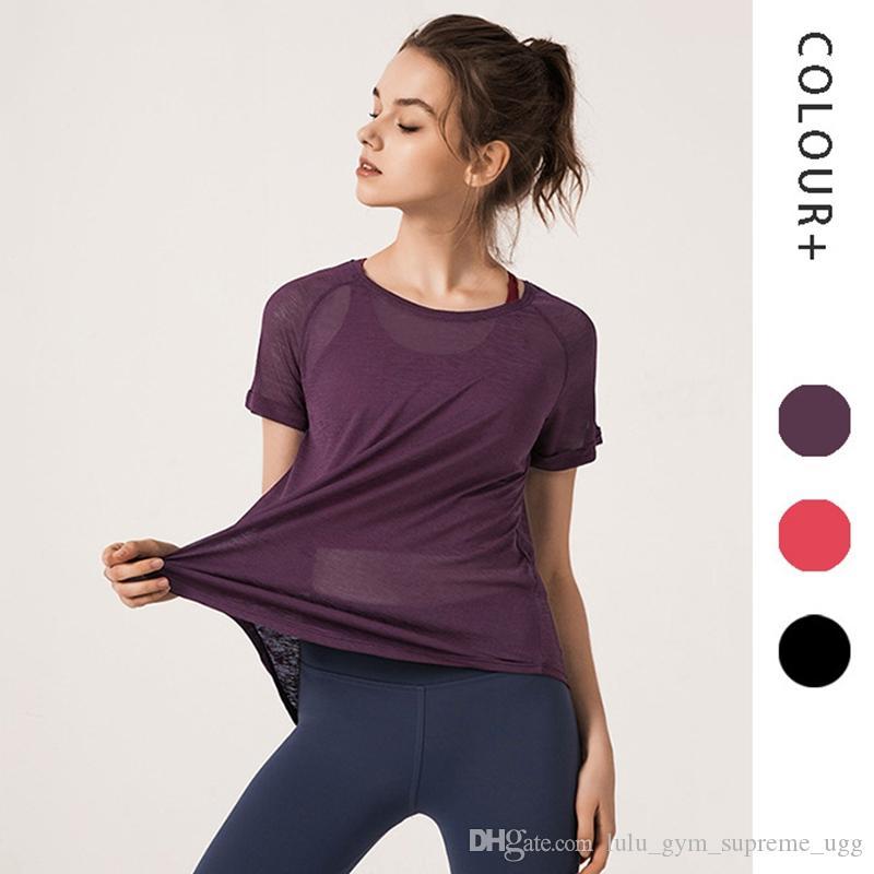 Женщины йога набор тренажерный зал одежда ломбер бесшовные обрезанные рубашки тренировки спорт тренажерный зал одежда йога наряды йога наряды для женщин футболка