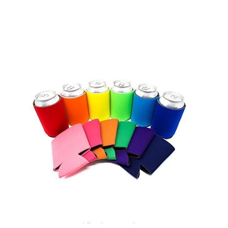 Blanco al por mayor vendedor superior de alta calidad colores del arco iris de neopreno 12 oz delgado puede refrigerador peones titular LX1939