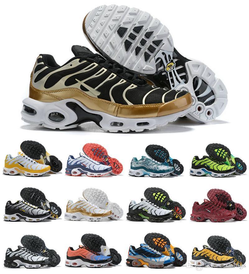2019 Nuevo diseñador TN Plus QS Ultra Zapatillas deportivas para hombre aIR Tn DE CALIDAD SUPERIOR Baratas TN ReQUIN ChauSSures Zapatillas deportivas en blanco y negro
