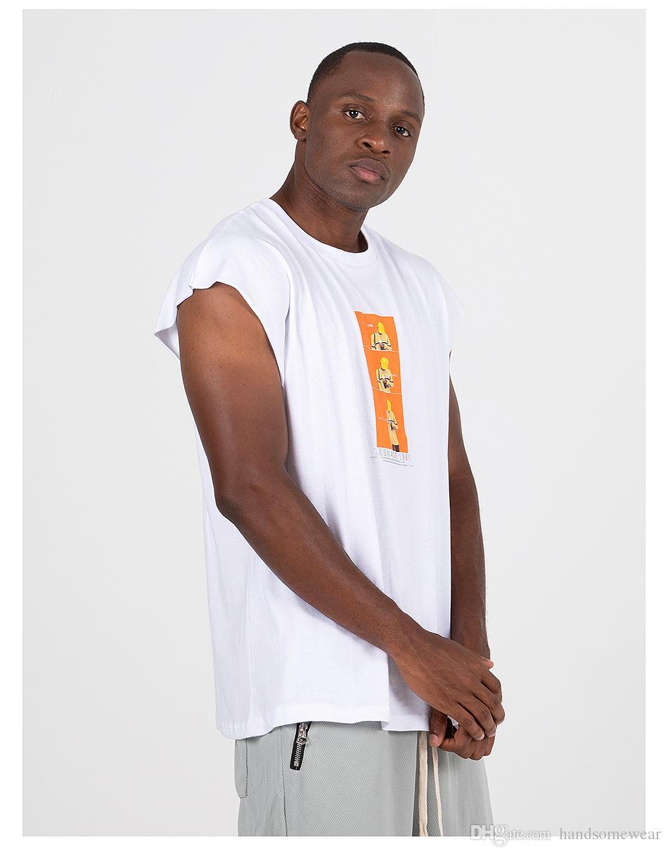 Erkekler için Erkekler Casual Baskı Tops Erkek Yaz Kolsuz T Shirt Moda Tasarımı Streetwear Tees