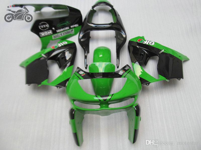 moto custom carenatura kit per Ninja Kawasaki ZX9R 98 99 verde nero carrozzeria carenature kit ZX9R ZX 9R 1998 1999