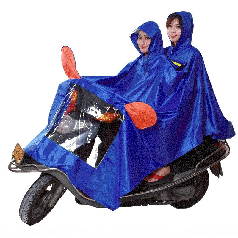 Electric raincoat female battery car adult riding thickened men single person motorcycle Cloak motorcycle double poncho