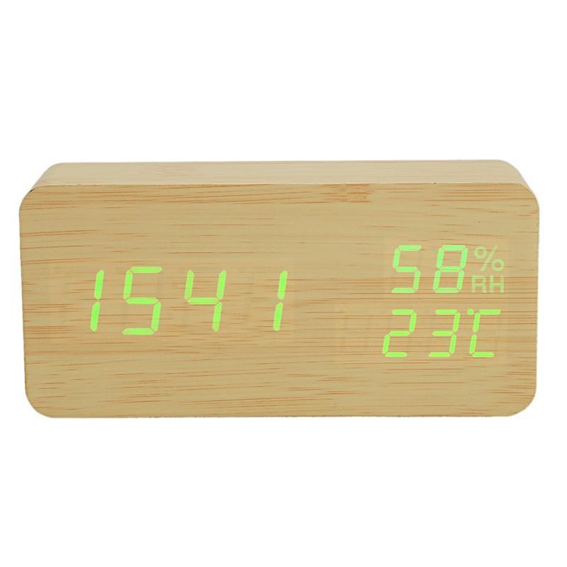Modern Led Relógio Despertador Temperatura Umidade Eletrônica Digital Desktop relógios de mesa