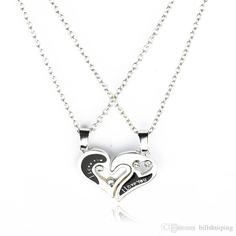 Fashion Gift Jewelry New Love Key Pendant 925 Silver Necklace Choker Chain Lover