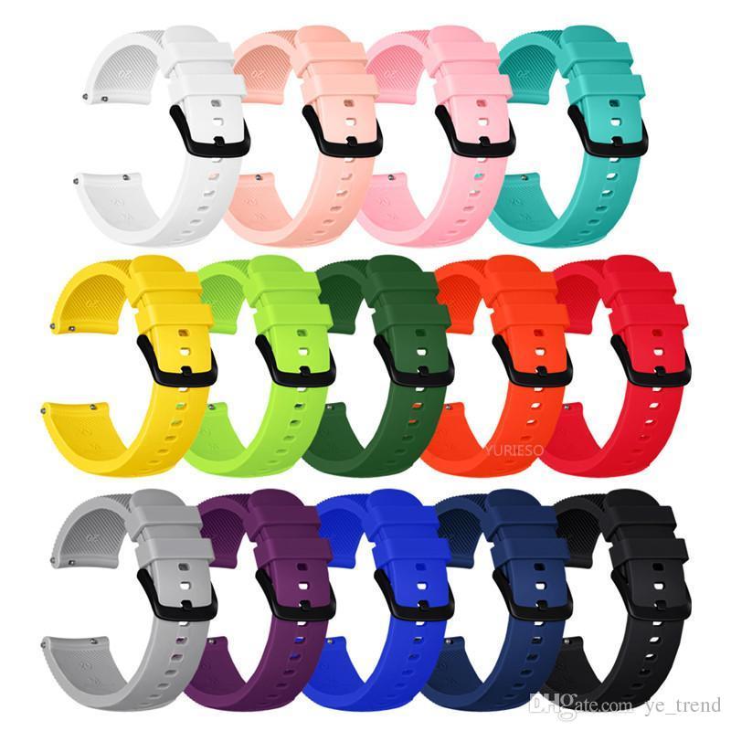 Cinturino in silicone morbido per Samsung Gear Sport Cinturino in silicone da 20 mm di ricambio per Samsung Gear S2 Classico orologio da galassia 42mm leggero