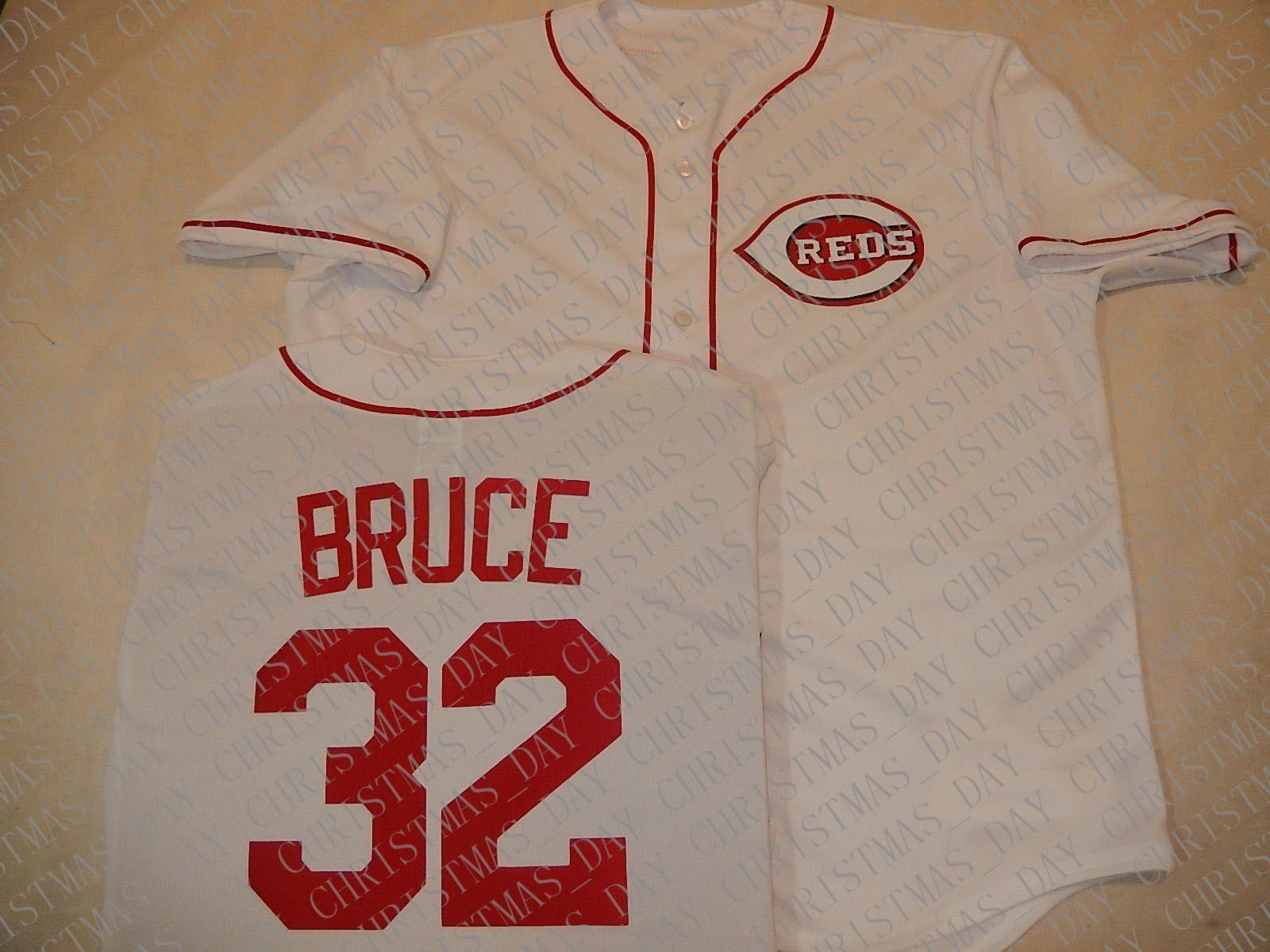 100% personalizado bordados JAY BRUCE Baseball JERSEY New ponto personalizar qualquer nome número MEN Jerseys XS-5XL NCAA JERSEY