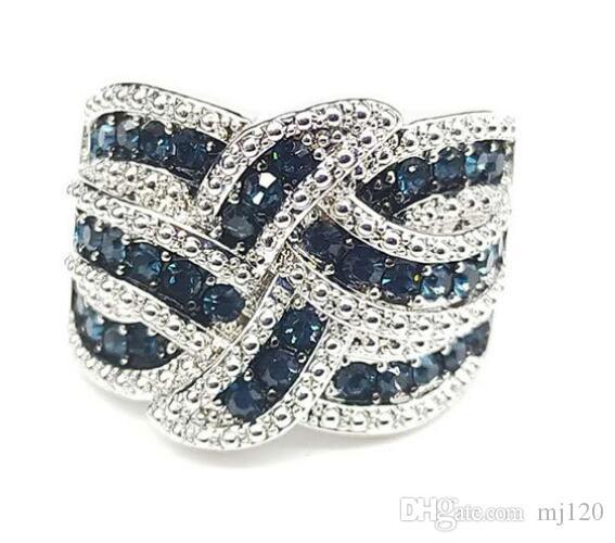 anneau saphir femelle usine bague en diamant plein exagérée gros
