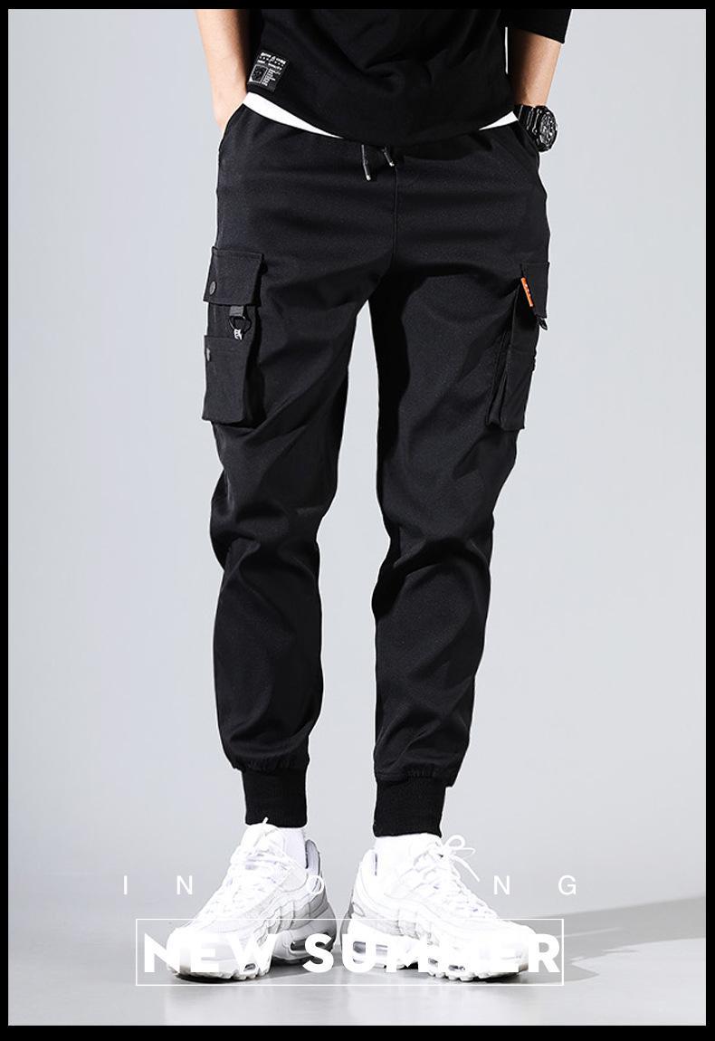 2019 Hot rue Pantalons simple hommes sarouel Neuvième Printemps Automne Crayon Pantalons Mode Homme Pantalon cargo en vrac
