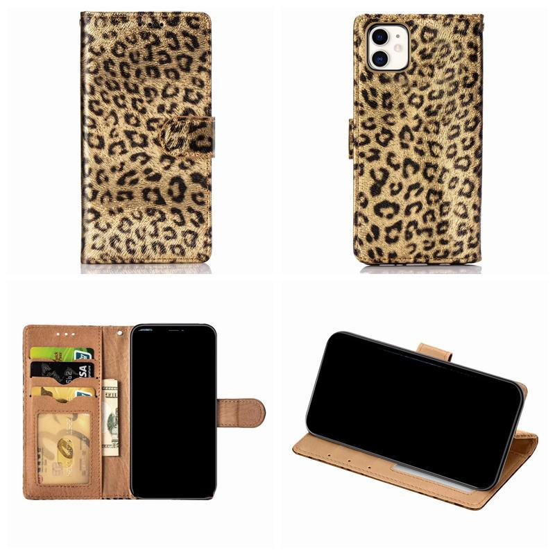 Leopard Wallet Leather Case For Iphone 11 Pro Max 2019 XR XS MAX X 8 7 6 Animal Holder Stand Pocket ID Card Frame Flip Cover Luxury Pouch