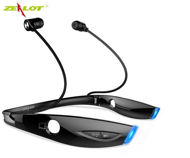 Zealot H1 Sport Беспроводная связь Bluetooth Наушники Доказательство пота Складная модная гарнитура Bluetooth-гарнитура с микрофоном